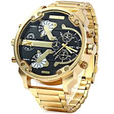 Big Face Designer Watches Buy Lux Watches The Grand Big Golden Military Mens Watch
