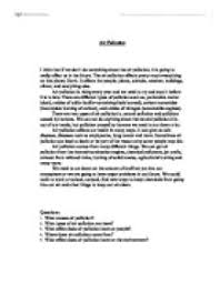 Essay Environment Pollution Essay About Air Pollution Conclusion Www Moviemaker Com