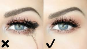 how to stop your eyes watering when applying wearing makeup quick easy hack