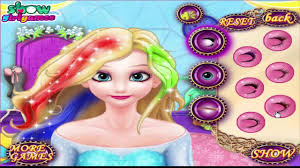 frozen games elsa queen and anna travel to india dress up makeup makeover