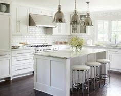 Small Picture White and gray kitchen features white cabinets paired with New