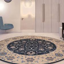 area rugs bovill agra oriental hand tufted wool navy blue brown area rug