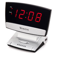 westclox led display alarm clock with usb charging port style 71014x com