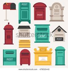 closed mailbox. Beautiful Rural Curbside Open And Closed Mailboxes With Semaphore Flag Vector Illustration Mailbox