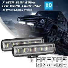 Suv Light Bar Details About 1x 90w 7inch Spot Beam Slim Led Work Light Bar Single Row Car Suv Off Road 3000k