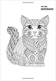 Coloring pages holidays nature worksheets color online kids games. Gridded Dot Notebook Cats Journal Diary Notebook Adult Coloring Page Cat Diy Self Notebook Cover 110 Pages 55 Sheets 7 X 10 Inches Large Dotted Pages Long Stephen 9798678964175 Amazon Com Books