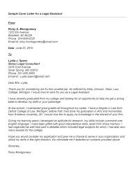 Research Assistant Cover Letter Example Legal Assistant Cover Letter