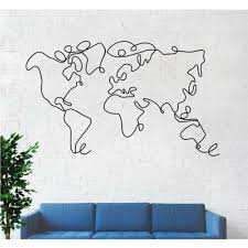 map wall art 2 pieces metal wall decor