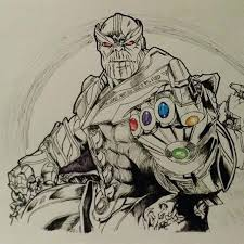 Marvel Thanos Coloring Pages Copy Thanos Coloring Pages Color