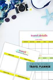 15 Free Trip Planner Printables For Your Next Vacation
