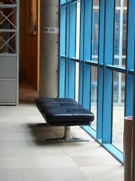 office blue. Retro Home Furniture. Light Chair Floor Window Office Blue Furniture Room Interior Design
