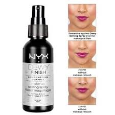 nyx makeup setting spray dewy finish