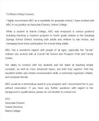 sample letter of recommendation for teaching position college recommendation letter sample from teacher of for scholarship