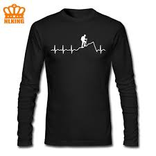 Hiking T Shirt Design Us 5 4 46 Off Heartbeat Hiking T Shirt Men Cool Design For The Next Hike Long Funny Sleeves Short Climb Mountains T Shirt Mtb Old Man Tops Tee On