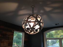 orbits urban chandelier recycled wine barrel metal hoops galvanized steel bands ceiling light fixture