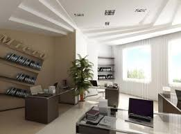 design for small office. Small Office Design With Red Accent Wall And Contemporary Furniture For