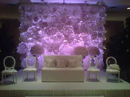 large paper flowers wall decor beautiful wedding backdrop