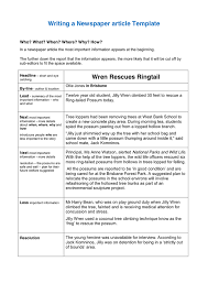 Newspaper Article Summary Template Writing A Newspaper Article Template In Word And Pdf Formats