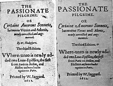 shakespeare authorship question  two versions of a title page of an anthology of poems one showing shakespeare as