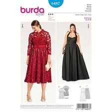 Plus Size Skirt Patterns Amazing Womens Plus Size Evening Dress Burda Sewing Pattern 48 Sew Essential