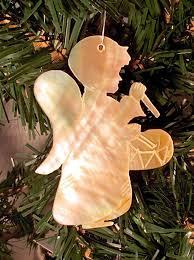 Georah Engel Mit Trommel Aus Echtem Perlmutt Christbaumschmuck Weihnachtsbaum
