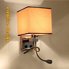 Fcx Light Wandleuchte Stoff Wandlampe Mit Led Leselampe