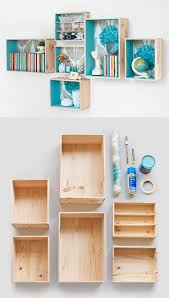 wonderful inspiration wooden box shelves fine design best 20 ideas on shelf diy