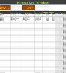 Mileage Log Templates 16 Free Printable Word Pdf Excel