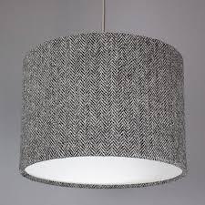 dark grey herringbone harris tweed lampshadequirk pertaining to sophisticated gray lamp shade your residence design