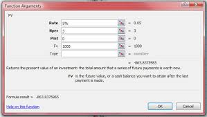 Finance Excel Functions How To Calculate Present Value Using Excel Or A Financial Calculator