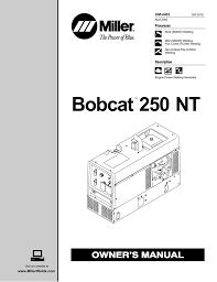 bobcat 250 fuse box location wiring library miller bobcat 250 nt owner`s manual manualzz com