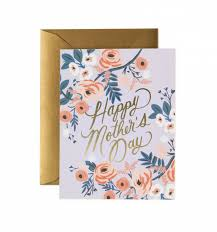 Rosy Mothers Day Greeting Card By Rifle Paper Co Made In Usa