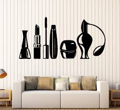 vinyl wall decal cosmetics beauty salon makeup artist fashion girl stickers unique gift 1081ig  on artistic wall decal with vinyl wall decal cosmetics beauty salon makeup artist fashion girl