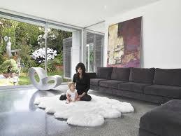 faux sheepskin rug decorating