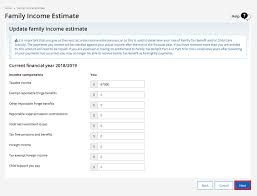 Centrelink Rate Charts Centrelink Online Account Help Update Your Family Income