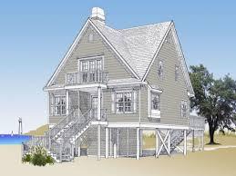 beach house plans on stilts unique beach cottage house plans pilings elevated beach house