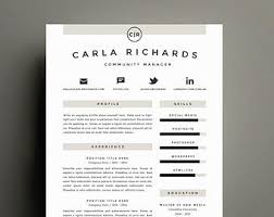 Richards Resume Modern Professional Resume Template And Cover Letter Template For