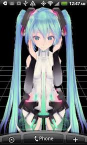 live moving anime wallpaper. Exellent Moving 3D Anime Girl Live Wallpaper 5 Screenshot 2 For Moving A