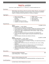 Welder Resumes Free Resume Example And Writing Download