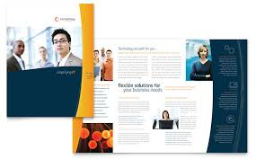 Download Brochure Template Wor
