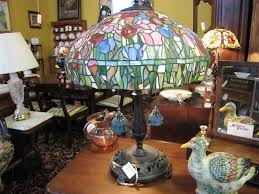 nashville antique lighting booth 63 a style stained glass lamp in vintage bronze