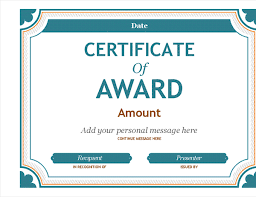 certificate of recognition templates gift certificate award office templates