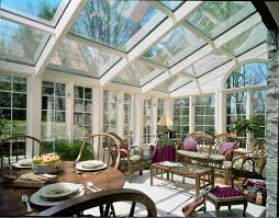 white indoor sunroom furniture. Choose Sunroom Furniture For Enliven Your Home: Inspiring Glass Roof And Window Treatment With White Indoor R