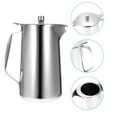 water pitcher with lid stainless steel cold water pot ice tea jug kettle water pitcher with water pitcher with lid
