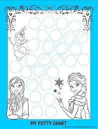 Elsa Potty Training Chart Frozen Potty Chart Free Printable Potty Training Tips