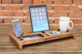 fashionable wood desk organizer wooden desk organizer office organizer phone station solid wood holder desk accessories office storage gift for him large