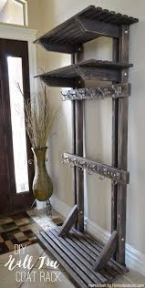 How To Make A Coat Rack Tree Building extra storage for your coats is easy with this free plan 51