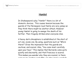 discussing dramatic devices in hamlet gcse english marked by  document image preview
