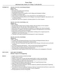 Graduate Civil Engineer Resume Samples Velvet Jobs