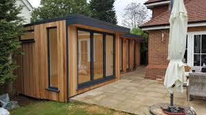 building a garden office. This Intriguing Double L-shaped Office Was Designed And Built By EDEN Garden Rooms Down The Side Of A Home In Reigate. Building
